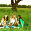 Stock Photo: Girlfriends on picnic