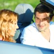 Love in cabrio — Stock Photo