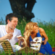 Lovers on picnic — Stock Photo
