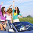 Joy in cabriolet — Stock Photo #7102096