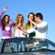 Joy in cabriolet — Stock Photo #7102099