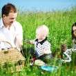 Stock Photo: Happy family picnic