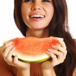 Stock Photo: Eat watermelon
