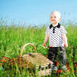 Boy on picnic — Stock Photo
