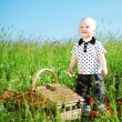Stock Photo: Boy on picnic