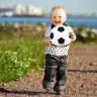 Boy play soccer - Foto Stock
