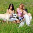Friends and dog — Stock Photo #7115130