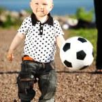 Boy play soccer — Stock Photo #7115168
