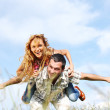 Hug in sky — Stock Photo