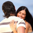 Hug in sky — Stock Photo #7115845