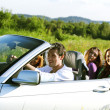 Friends in car — Stock Photo #7116369