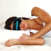 Offline sleeping woman — Stock Photo