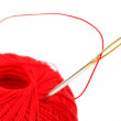 Stock Photo: Needle thread