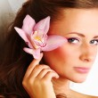 Foto Stock: Orchid woman