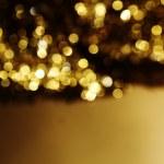 Golden bokeh background — Stock Photo