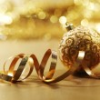 Golden christmas card — Stock Photo #7192780