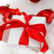 Stock Photo: White christmas gift