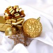 Gold christmas ball — Stock Photo #7193417