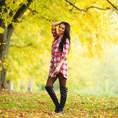 Autumn woman — Stock fotografie
