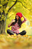 Autumn woman — Fotografia Stock