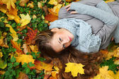Autumn woman — Photo