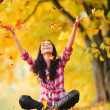 Autumn woman - Stock Photo