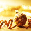 Royalty-Free Stock Photo: Golden christmas background