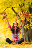 Autumn woman — Stockfoto