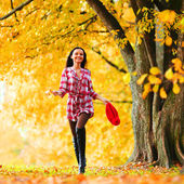 Autumn woman — Foto Stock