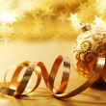 Golden christmas card — Stock Photo #7276103