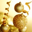 Golden christmas — Foto Stock