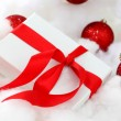 White christmas gift - Stockfoto