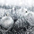 Silver christmas ball — Stock Photo #7276321