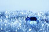 Tarjeta de navidad azul — Foto de Stock
