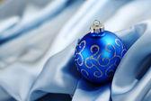 Blue christmas card — Stock Photo