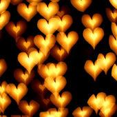 Bokeh corazones — Foto de Stock