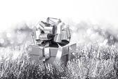 серебряный рождественская открытка — Стоковое фото