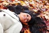 秋の女性 — ストック写真