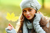 Autumn woman — Foto de Stock