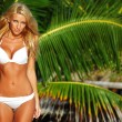 Woman in a bikini — Stockfoto