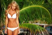 Woman in a bikini — Stock Photo