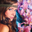 Orchid woman - Foto Stock