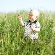 Foto de Stock  : Boy in grass