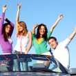 Joy in cabriolet — Stock Photo #7472824