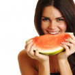 Eat watermelon — Stock Photo #7472891