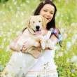 Woman and dog — Stock Photo #7473031