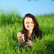 Brunette on grass — Stock Photo #7473057