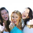 Success girlfriends - Stock Photo