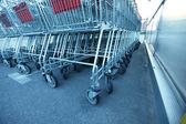 Carrinhos de compras — Fotografia Stock