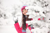 Play snowballs — Stock Photo